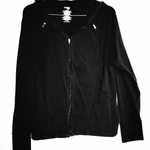 Black Zip Up Danskin Now Hoodie Jacket